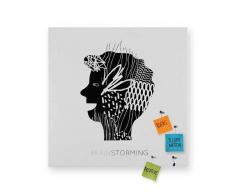 Design object Lavagna magnetica Brainstorming 80x80 cm colore Bianco