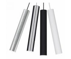 Sospensione id-look small sp1 gu10 led 6cm metallo moderno bianco nero foglia argento cromo