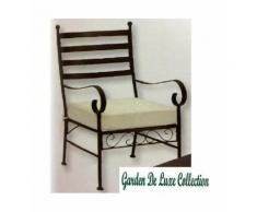 Poltrona da giardino con cuscino in acciaio Serie ETRURIA color ruggine 60x63xh95 cm