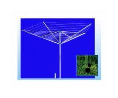 Stendibiancheria Gimi Garden Ad Ombrello Alluminio 50mt Stendibili 188x188x201cm