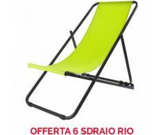 OFFERTA 6 SDRAIO POLTRONA RIO 133X64CM VERDE ACCESSORI DECORO GIARDINO