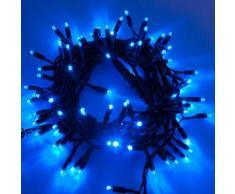 Catena 10 m, 120 Maxiled blu, cavo verde, prolungabile, luci natalizie, decorazione natalizia,