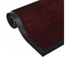 Zerbino antiscivolo rettangolare 150 x 90 cm Rosso