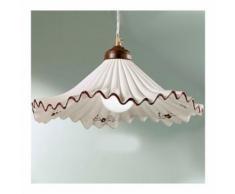 Sospensione dp-anna sg 40 cm e27 53w ceramica classica lampadario rustico interno, colore rosso