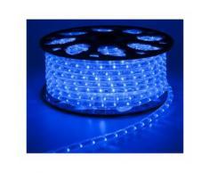 TUBO LED LUMINOSO 50 MT ESTERNO BLU LUCI DI NATALE 1200 LED ADDOBBI NATALIZI 3 VIE