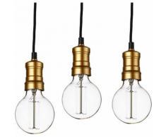 3 x Lampadario da sospensione in look retro - metallo - Edison