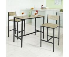 SoBuy Set tavolino bar con 2 sgabelli, Arredo da giardino,Tavolo da bar, OGT03,IT