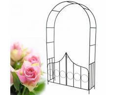 arco per rose rampicanti in acciaio con porticina
