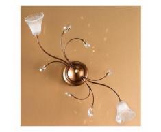 Applique dp-nadia pl2 g9 33w alogena led metallo gocce cristallo classica lampada parete soffitto
