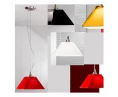 Sospensione dp-2485 e14 led vetro ambra rosso nero bianco lampadario cono moderno interno, colore