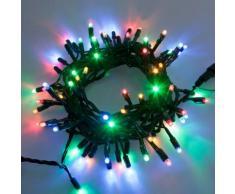 Catena 10 m, 120 Maxiled multicolor, cavo verde, prolungabile, luci natalizie, decorazione