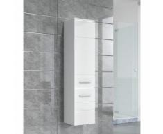 Armadietto Toledo 132 cm altezza bianco lucido - Mobiletto, armadietto per il bagno, armadio mobili