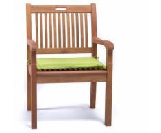 Cuscino per esterno poltrona sedia colore verde 46x42 cm da giardino
