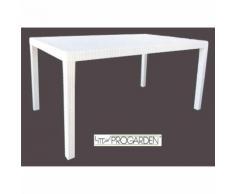 Tavolo da giardino in resina effetto rattan per bar locali arredo esterno 150x90