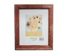 Cornice in legno Noce Antico 24X30 Quadro con Lastra in Vetro per Poster