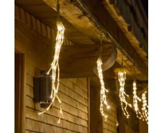 Catena 9 m, 10 grappoli di luci, 480 miniled bianco caldo, cavo trasparente