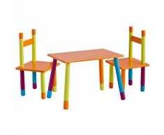Set Color Bambini con Tavolo e 2 Sedie In MDF