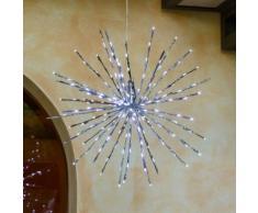 TWIGball argento, diam. 60 cm, 200 led bianco freddo, effetto flashing, decorazioni natalizie,