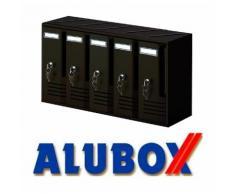 Cassetta per posta in alluminio colore ghisa 52x17,5x30 h cm