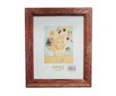 Cornice in legno Noce Antico 50X70 Quadro con Lastra in Vetro per Poster