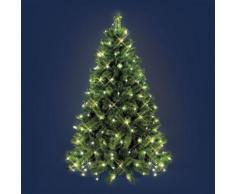 Mantello di luci per albero di Natale 3,8 x h. 2 m, 195 led bianco caldo, cavo verde, decorazione