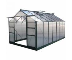 Serra da giardino in policarbonato DAHLIA Verde Abete 13,29 m²