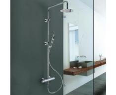 Colonna doccia Jacuzzi con miscelatore termostatico soffione 20cm e doccetta