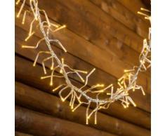 Catena Festone di Luce 12,5 m, Ø 12 cm, 1104 miniled bianco caldo Ø 3 mm, cavo trasparente, luci