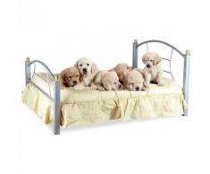 Letto cuccia per cani e gatti B236 SNOOPY in ferro battuto 91 x 70 x 14.5 cm