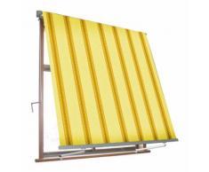 Tenda Da Sole Avvolgibile A Caduta Con Braccetti 3x2,45 M Per Finestra Balcone Beige/ocra