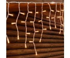 Stalattite 5 x 0,5, 190 lampade chiare, cavo bianco, prolungabile, tendine luminose, luci di Natale