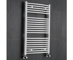 Radiatore Scaldasalviette Curvo - Bianco - 1000mm x 600mm x 52mm - 740 Watt - Etna