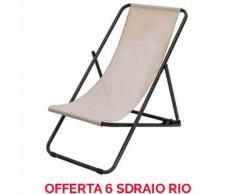 OFFERTA 6 SDRAIO POLTRONA RIO 133X64CM BEIGE ACCESSORI DECORO GIARDINO