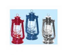 Lanterna A Petrolio In Acciaio Colore Grigio H.30cm Autonomia 30 Ore 1pz