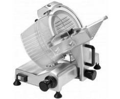Affettatrice a Gravità - Diametro Ø Lama 250 mm - Potenza 150 W - Dimensioni piano di appoggio 380x250 mm - Alluminio Anodizzato - Modello S250