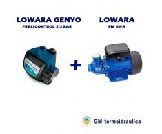 Spakit Autoclave Elettropompa Periferica Lowara Pm 30 0,7 Hp 0,5 Kw + Press Control Lowara Genyo 8a/f22 2,2 Bar