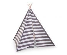 Tenda Gioco Teepee - Childhome - Righe bianche e grigie