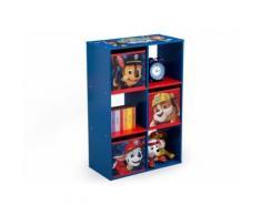 Libreria Portagiochi con 6 Scomparti e 3 Contenitori Paw Patrol - Delta Children