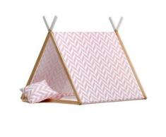 Tenda Gioco 2-in-1 Herringbone Tropical Collection - Wigiwama - Rosa