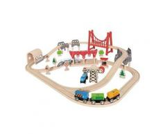 Set Pista Treno a Doppio Anello - Hape Toys