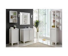 JUSTyou Anadia Set mobili da bagno Pino Bianco