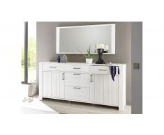 JUSTyou Clermont Credenza Pino comune | Bianco