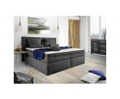 JUSTyou Lansing Letto Vi-Spring 140x200 cm Antracite
