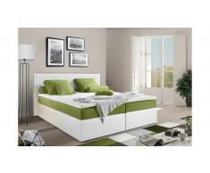 JUSTyou Frankfort Letto Vi-Spring 160x200 Bianco Verde