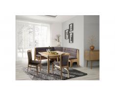 JUSTyou Augsburg Set tavolo con sedie Faggio Marrone