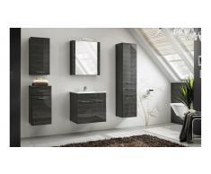 JUSTyou Grotteria Set mobili da bagno Nero lucido