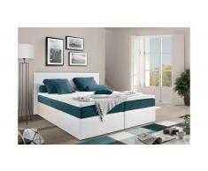 JUSTyou Frankfort Letto Vi-Spring 180x200 Bianco Blu