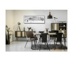 JUSTyou Adesso Set tavolo con sedie Grigio Nero