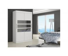 JUSTyou Toledo Guardaroba 215x180x58 cm Bianco