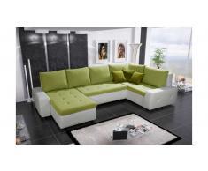 JUSTyou Senso Bis Divano a U Bianco Verde 94x175x345